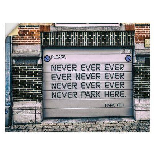 Artland artprint »Nicht Parken«  - 22.99 - wit