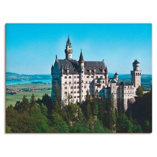 Artland artprint Kasteel Neuschwanstein Beieren in vele afmetingen & productsoorten -artprint op linnen, poster, muursticker / wandfolie ook geschikt voor de badkamer (1 stuk)  - 41.99 - blauw