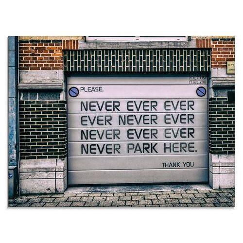 Artland print op glas »Nicht Parken«  - 77.99 - wit