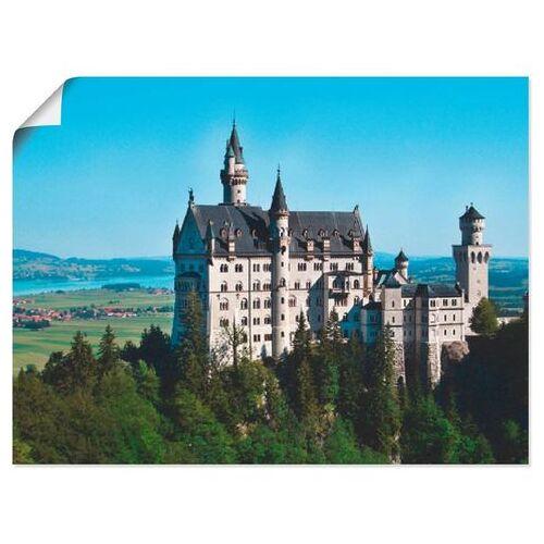 Artland artprint Kasteel Neuschwanstein Beieren in vele afmetingen & productsoorten -artprint op linnen, poster, muursticker / wandfolie ook geschikt voor de badkamer (1 stuk)  - 20.99 - blauw