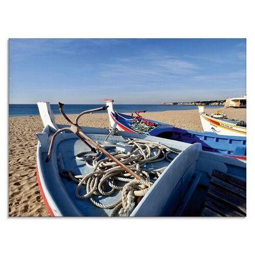 Artland print op glas Traditionele vissersboten (1 stuk)  - 142.99 - blauw
