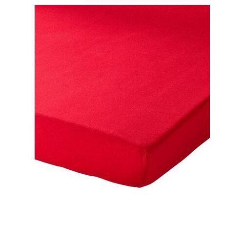 Schlafgut Hoeslaken  - 19.99 - rood - Size: ca. 120-130/200 cm, Hoeslaken;ca. 140-160/200 cm, Hoeslaken;ca. 180-200/200 cm, Hoeslaken;ca. 90-100/200 cm, Hoeslaken