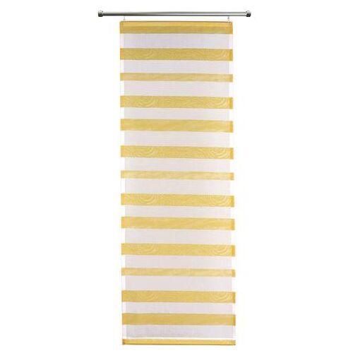 VHG Paneelgordijn, VHG, »Woody« (per stuk met accessoires)  - 13.99 - geel - Size: H/B: 110/60 cm;H/B: 145/60 cm;H/B: 160/60 cm;H/B: 175/60 cm;H/B: 225/60 cm;H/B: 245/60 cm
