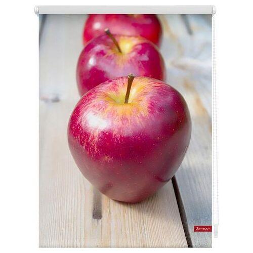 LICHTBLICK Rolgordijn met zijbediening, LICHTBLICK, »Appels«, Klemmfix, kettingbediening, lichtwerend  - 72.78 - rood - Size: hxb: 150x120 cm