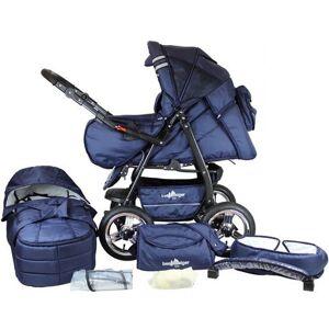 Bergsteiger combi-kinderwagen, 10-delig, »Rio, marine blue, 3in1«  - 379.90 - blauw