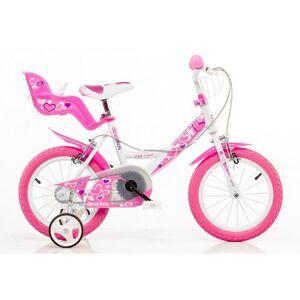 Dino kinderfiets voor meisjes, 14 inch, 1 versnelling, »Girlie«