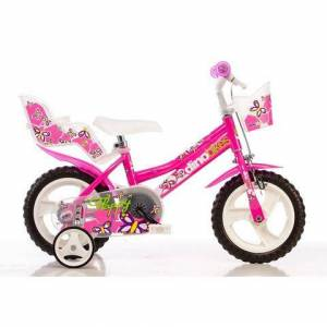Dino kinderfiets voor meisjes, 12 inch, 1 versnelling, »City«  - 126.71 - roze - Size: framehoogte 22 cm