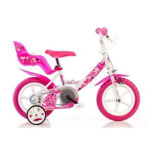 Dino kinderfiets voor meisjes, 12 inch, 1 versnelling, »Girlie«  - 126.71 - roze - Size: framehoogte 22 cm