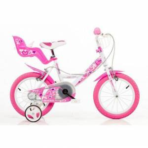 Dino kinderfiets voor meisjes, 16 inch, 1 versnelling, »Girlie«  - 129.99 - roze - Size: framehoogte 28 cm