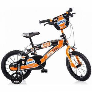 Dino kinderfiets 1 versnelling  - 119.99 - oranje - Size: framehoogte 25 cm