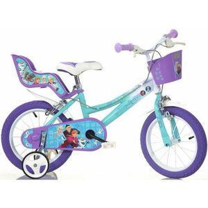 Dino kinderfiets voor meisje, 16 inch, 1 versnelling, »Frozen«  - 149.99 - wit - Size: framehoogte 28 cm