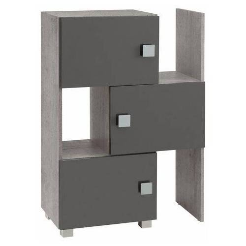 Schildmeyer Schuifkast Quadra stapelbaar, badkamerplank  - 169.99 - grijs - Size: 78x34,5x101 cm