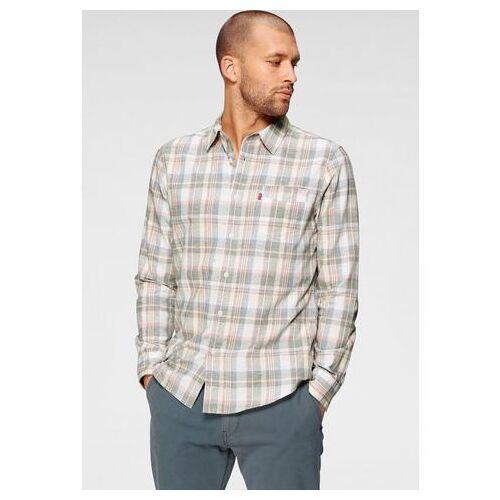 Levi's® geruit overhemd met kleine logovlag  - 59.99 - beige - Size: Medium