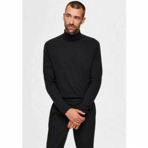 Selected Homme coltrui »Berg Roll Neck«  - 39.99 - zwart - Size: Small