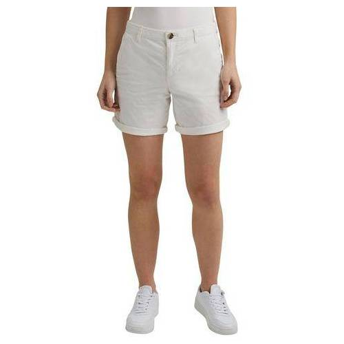 edc by Esprit chino-short met individueel oprolbare zoom  - 24.99 - wit - Size: 34;36;38;40;44