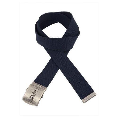 Man's World stoffen riem  - 15.99 - blauw - Size: 85;95;115;125;135