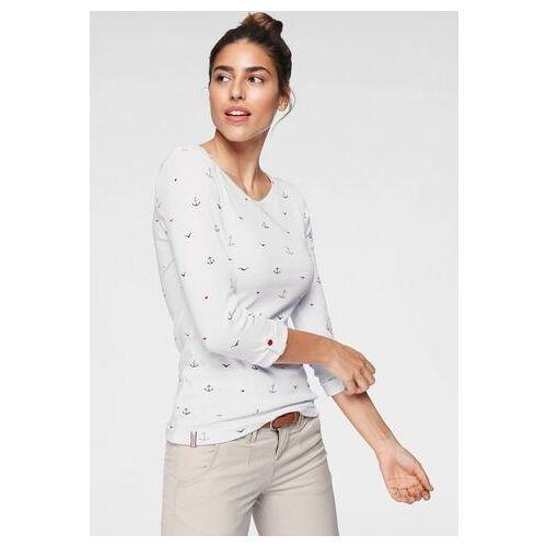 KangaROOS NU 20% KORTING: KangaROOS shirt met lange mouwen met leuke print van stippen, vogels en ankers all-over  - 24.99 - wit - Size: Extra Small