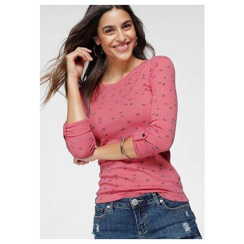KangaROOS NU 20% KORTING: KangaROOS shirt met lange mouwen met leuke print van stippen, vogels en ankers all-over  - 24.99 - roze - Size: Extra Small