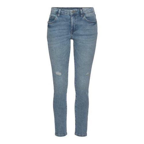 edc by Esprit skinny jeans met lichte destroyed-effecten  - 54.99 - blauw - Size: 26;29;30;32;33