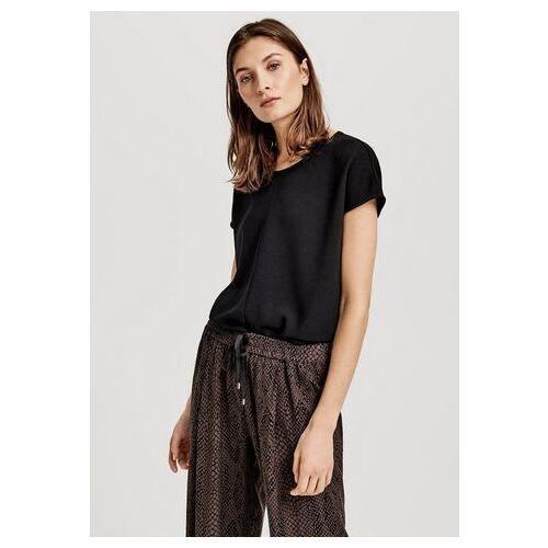 OPUS shirt Sudo in een mix van materialen  - 36.99 - zwart - Size: 36;38