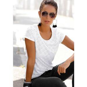 Lascana NU 20% KORTING: Lascana strandshirt met broderie anglaise  - 29.99 - wit - Size: 32/34;36/38;40/42;44/46