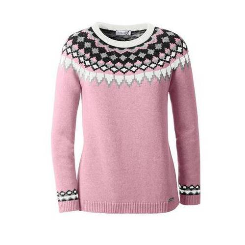 Casual Looks Trui met kenmerkend Noors motief  - 49.99 - roze - Size: 36;38;40;42;44;46;48;50;52;54