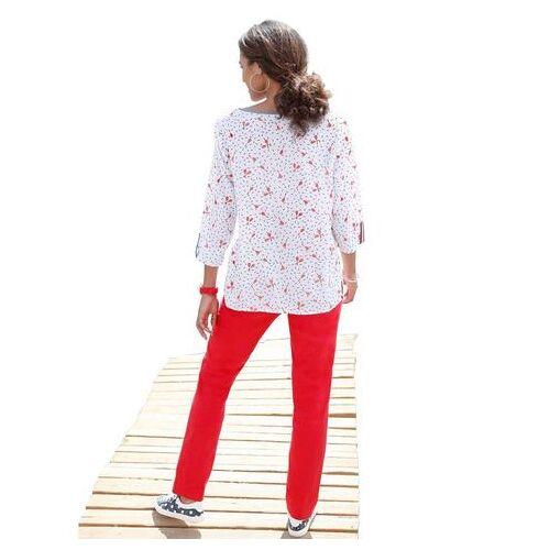 Casual Looks blouse met pittig tennisracketdessin  - 34.99 - wit - Size: 36;38;40;42;44;46;48;50;52;54