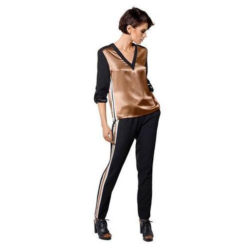 Creation L NU 21% KORTING: création L broek met fijne bronsglans  - 49.99 - zwart - Size: 36;38;40