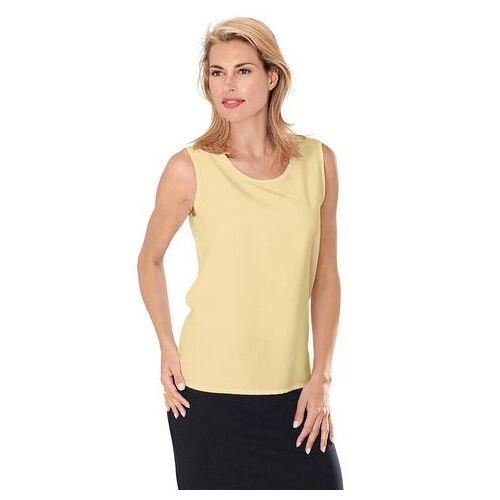 Casual Looks top met zijsplitten  - 14.99 - geel - Size: 38;40;42;44;46;48;50;52;54;56