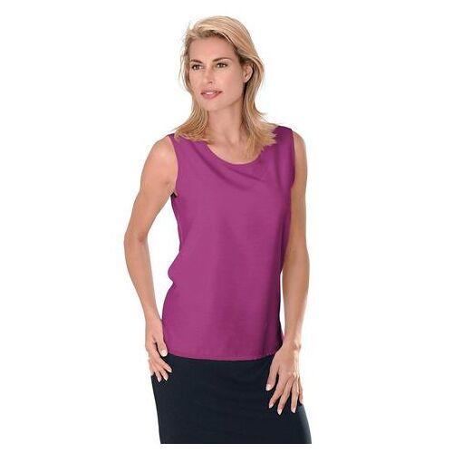 Casual Looks top met zijsplitten  - 14.99 - roze - Size: 38;40;42;44;46;48;50;52;54;56