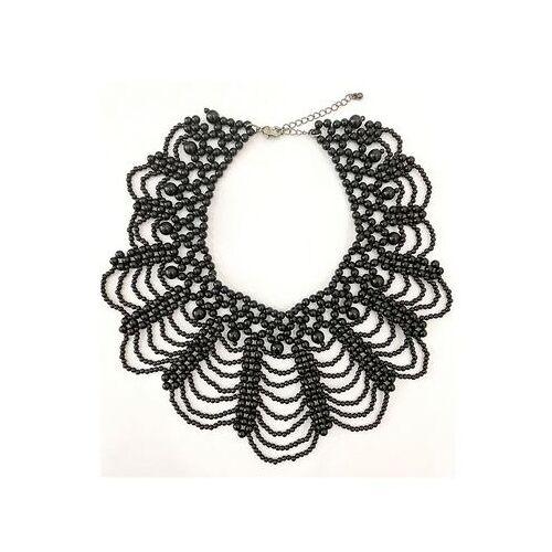 J.Jayz collier Gedetailleerd design, elegant en glamoureus met acrylkralen  - 15.00 - zwart