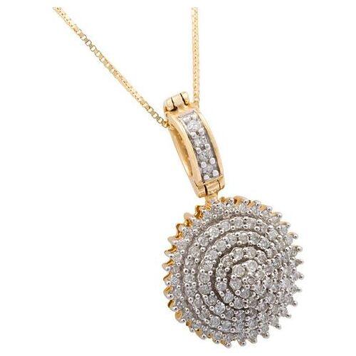 Firetti ketting met hanger Glamoureus rond met diamanten  - 1246.16 - goud