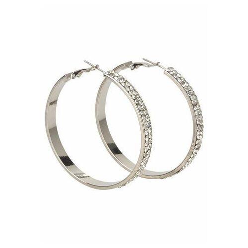 J.Jayz oorringen Breder model in glamoureus design, zilverkleur met glassteentjes  - 16.99 - zilver