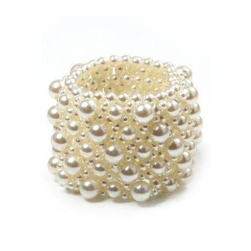 J.Jayz armband Elegant en glamoureus met acrylkralen  - 14.73 - wit