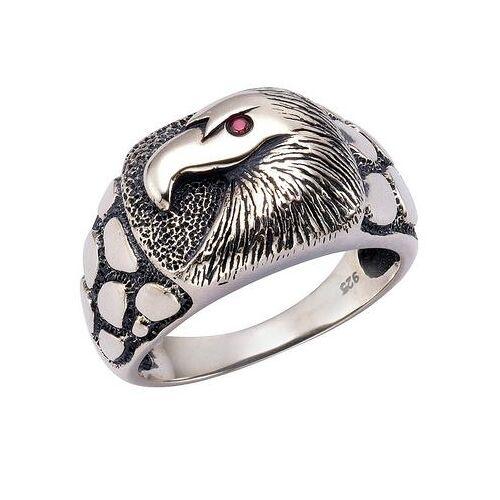 firetti ring met fonkelende zirkoon, »Adelaar«  - 79.99 - rood - Size: 19 = 60 mm omtrek;20 = 63 mm omtrek
