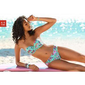 s.Oliver RED LABEL Beachwear NU 20% KORTING: s.Oliver RED LABEL Beachwear beugelbikini in bandeaumodel met bloemenprint  - 54.99 - groen - Size: 32;34;38;40