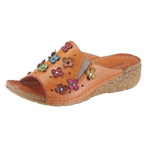Gemini NU 20% KORTING: Gemini slippers Kitty met aantrekkelijke bloemdecoratie  - 59.99 - oranje - Size: 36;37;39;40;41;42