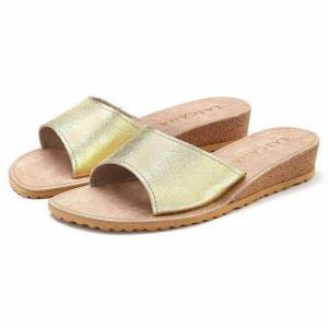 LASCANA slippers  - 29.99 - goud - Size: 35;36;37;38;39;40;41;42