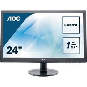 AOC »E2460SH« ledmonitor (24 inch, 1920x1080 pixels, Full HD, 1 ms reactietijd, 60 Hz)  - 129.15 - zwart