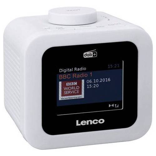 Lenco wekkerradio »CR-620 (Digitalradio (DAB+),FM-Tuner, 2 Watt)  - 68.77 - wit