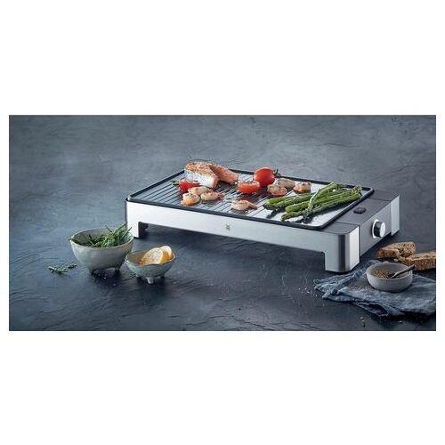 WMF tafelgrill LONO tafelgrill plat & geribbeld, 2300 watt  - 79.99 - zilver