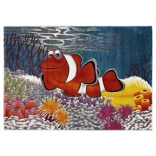 OCI DIE TEPPICHMARKE vloerkleed voor de kinderkamer Kidsclub Memo Aquariumvissen, laagpolig kindertapijt  - 49.99 - multicolor - Size: 80 cm x 150 cm x 13 mm;140 cm x 200 cm x 13 mm