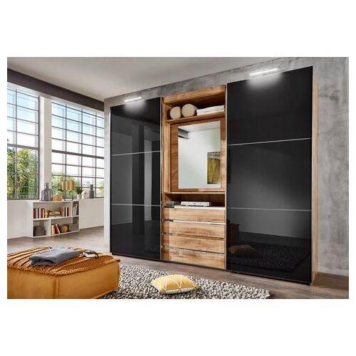 FRESH TO GO zweefdeurkast met draaibare spiegeldeur, buitendeuren met glas  - 1279.99 - wit - Size: 300 x 236 x 65 (b x h x d) cm , 2-deurs