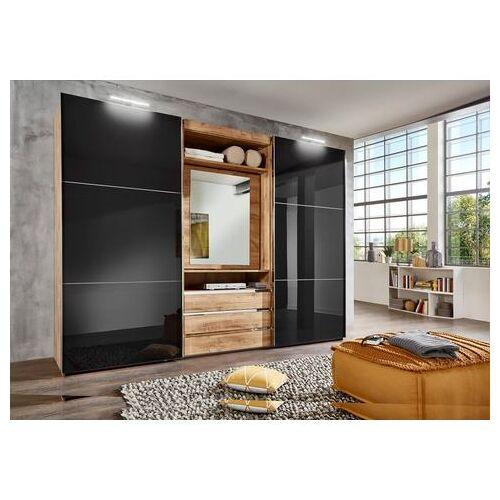 FRESH TO GO zweefdeurkast met draaibare spiegeldeur, buitendeuren met glas  - 1129.99 - grijs - Size: 300 x 216 x 65 (b x h x d) cm , 2-deurs