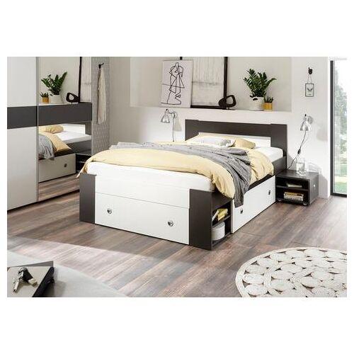 Schlafkontor bed Linz met uittrekbare nachtkastjes en laden  - 259.99 - wit