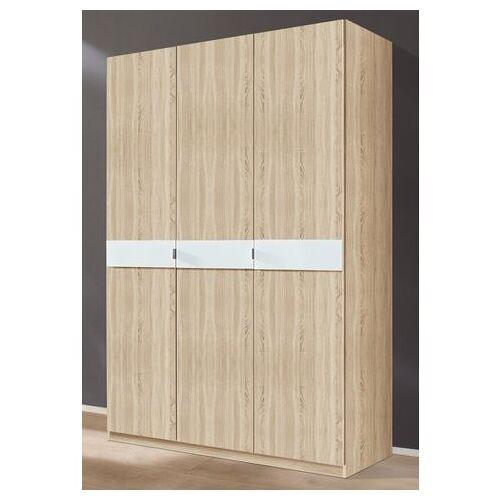 priess Garderobekast met glas-inlays  - 329.99 - beige - Size: 140 x 193 x 54 (b x h x d) cm , 3-deurs