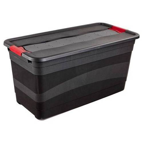 keeeper bak met deksel 79,5 x 39,5 x 40 cm, 83 liter, »eckhart«  - 24.99 - zwart - Size: (LxBxH): 79,5 x 39,5 x 40 cm