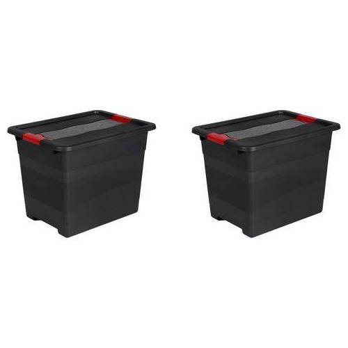 keeeper transportcontainer eckhart 24 liter elk (set, 2 stuks)  - 22.99 - zwart - Size: (lxbxh): 39,5 x 29,5 x 30 cm