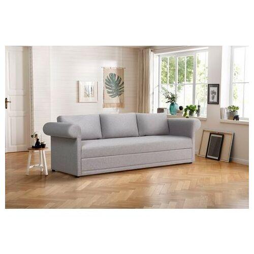 Home affaire 3-zitsbank Aiko geschikt als volwaardig bed  - 879.99 - grijs - Size: fijne structuurstof