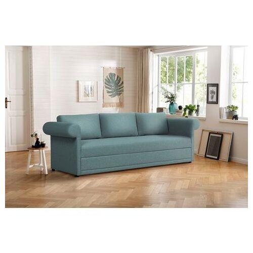 Home affaire 3-zitsbank Aiko geschikt als volwaardig bed  - 879.99 - blauw - Size: fijne structuurstof